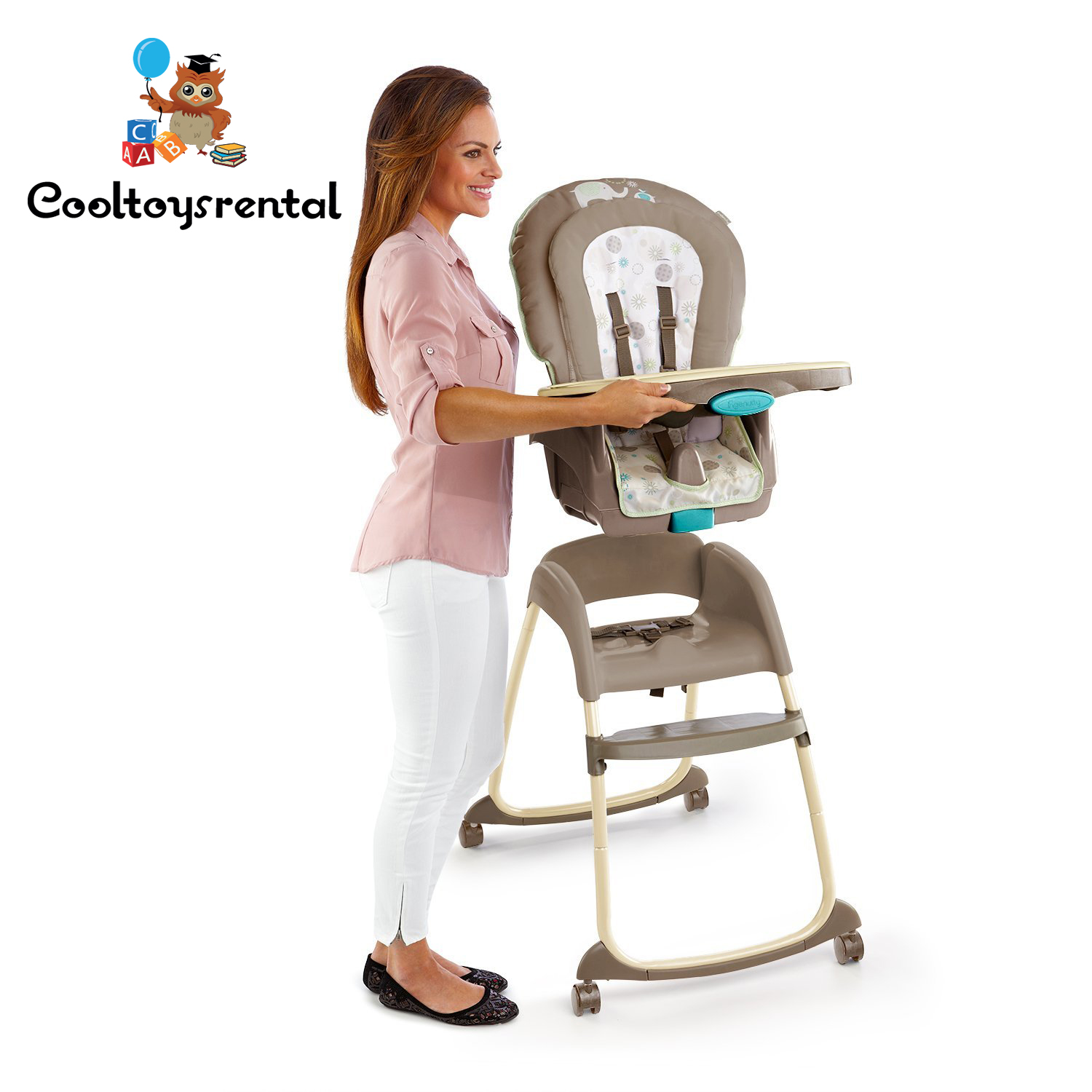 Bright Starts Ingenuity Trio 3 in 1 Deluxe High Chair Sahara