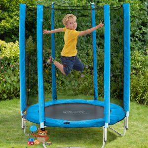 Plum 5ft Junior Trampoline With Enclosure Blue Cooltoysrental