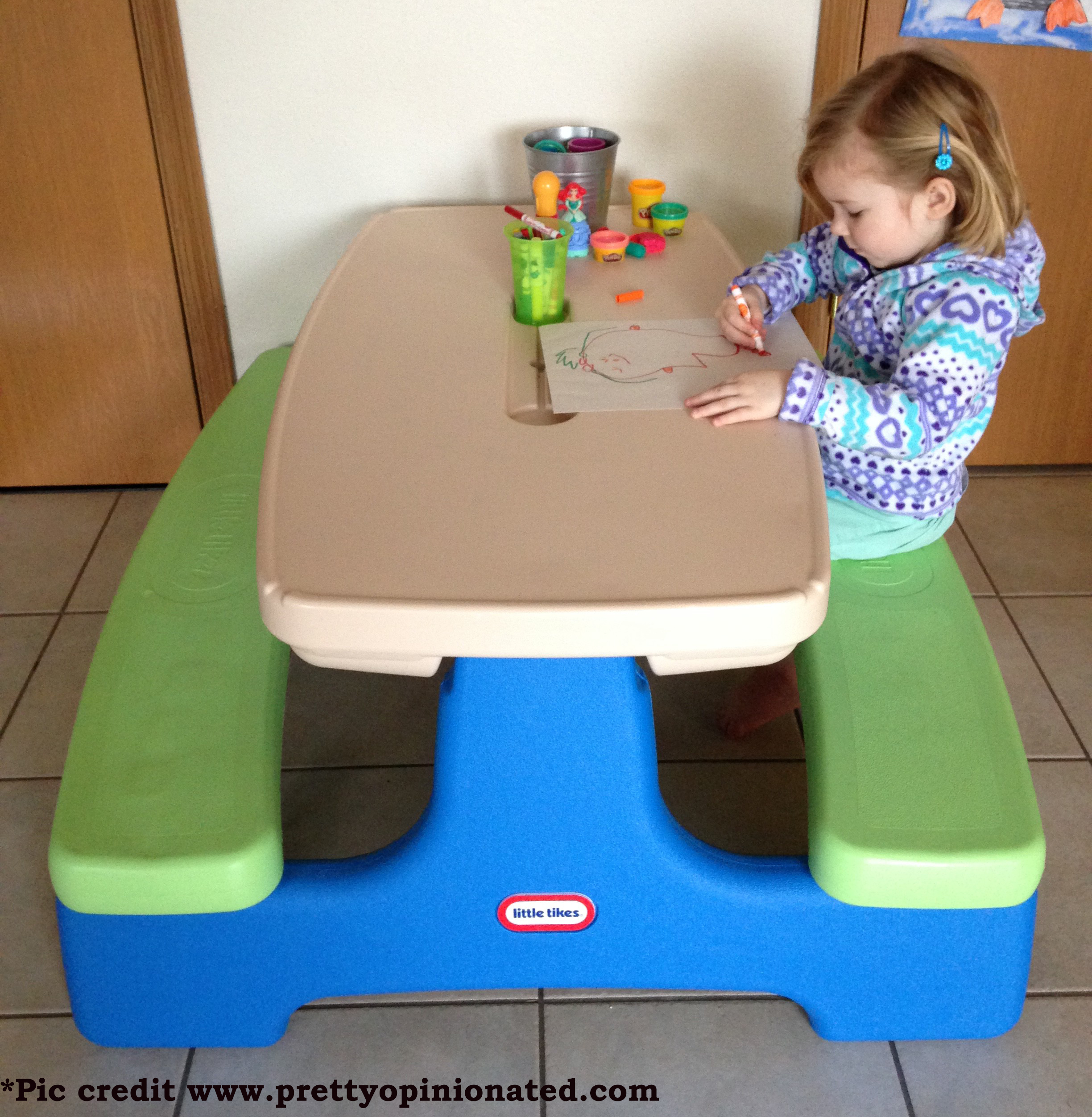 Little tikes easy store picnic table with umbrella cooltoysrental little tikes easy store picnic table with umbrella watchthetrailerfo